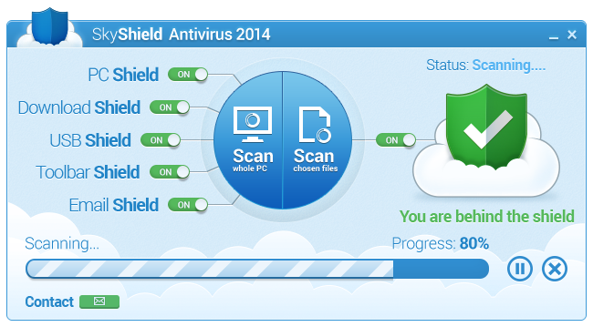 Click to view SkyShield Antivirus 2014 screenshots
